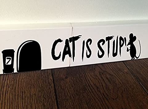 MOUSE Graffiti Cat is stupid funny wall art decal stickers