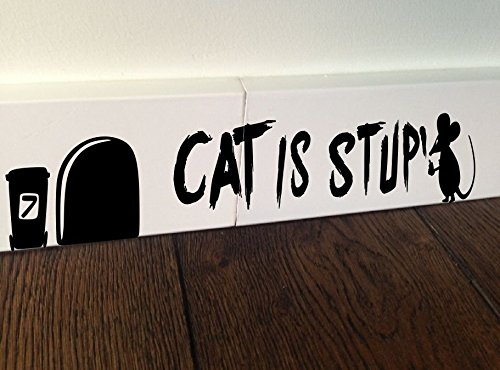 Mouse Graffiti Writer Gatto stupido cuore amore Minie foro Home Live Kids Funny - Sticker, decalcomania da parete Baseboard Bambini mouse Battiscopa