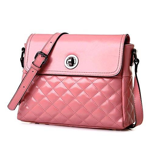 PACK Borse In Pelle Lingge Donne Borse A Tracolla Cera In Pelle Di Cuoio Donna Satchel,A:Blue C:Pink