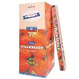 Räucherstäbchen Satya Strawberry 250g 25 Schachteln Erdbeere Duft Wohnaccessoire Raumduft