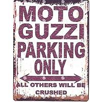 Moto Guzzi Parken Schild klein 15,2x 20,3cm 15x 20cm RETRO VINTAGE STIL Dose Art Wand Schuppen Werkstatt Garage Classic Cars