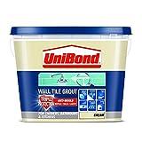 UniBond 1617927 - Malta liquida per piastrelle, tripla protezione anti-muffa, colore: panna
