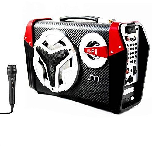 Altavoz Karaoke con Micrófono Bluetooth Portátil con Correa de hombro y Luz...