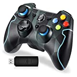 EasySMX PS3 Controller, 2,4G Wireless Gamepad, Joysticks Dual Vibration Turbo für PS3 /Windows-PC/Android Tablet TV Box (Tarnung)