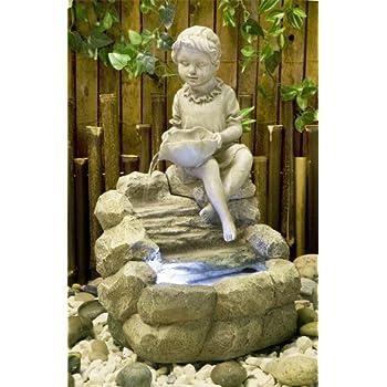 Fontaine DIntrieur Zen Et Relaxante Statuette Petite Fille Led