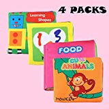 BonZeaL Crinkle Baby Soft Cloth Books Early Learning Educational Toys Birthday Gifts