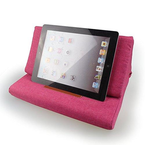 Hand Made Tablet PC Lesekissen iPad Halterung Ständer Buchkissen, Blumen- Rose Rot