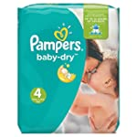 Pampers Baby Dry Windeln, Gr.4 (Maxi)...
