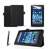 Ejecutivo multi función atril para el Amazon Fire (Tablet de 7, 5ª generación–2015) Tablet (con soporte para lápiz óptico + Protector de pantalla + lápiz capacitivo