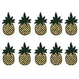 Cdet 10X Paño amarillo de la forma de la fruta de la piña de la hamburguesa hierro bordado para las mujeres zapatos niños suéteres jeans artesanías de bricolaje