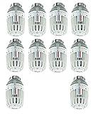 10er Pack Heimeier Thermostat Kopf Typ K Nr. 6000-00 weiß 6000-00.500