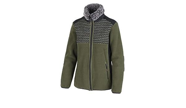 CMP Fleecejacke Funktionsjacke Jacket grün atmungsaktiv Kapuze warm