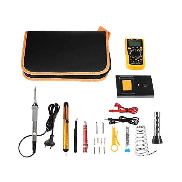 GBlife Kit de Soldador Eléctrico y Multímetro Numérico, Set de Soldador