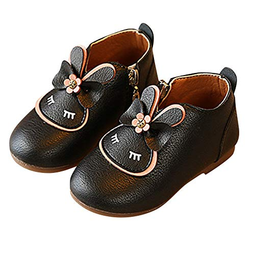 Tagether Kinder Booties,Zipper Einzelne Mädchen Karikatur Kaninchen Bogen Niedlich Kleine Schuhe,Mini Sneaker