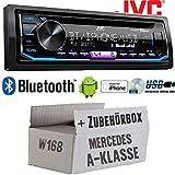 Mercedes A-Klasse W168 - Autoradio Radio JVC KD-R992BT - Bluetooth | MP3 | USB | Android | Multicolor - Einbauzubehör - Einbauset