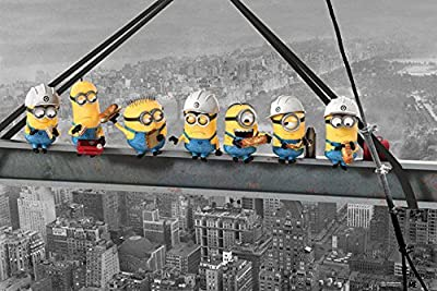 Posters: Moi, Moche Et Méchant Poster - Minions Lunch On A Skyscraper (91 x 61 cm)