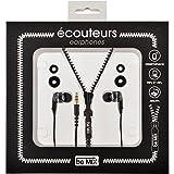 In-Ear Kopfhörer Kabelgebundene Zip schwarz Silikon Ohrstöpsel Be Mix 35–2d-019N