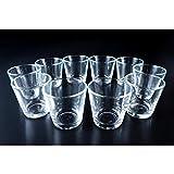 10 x Vasito / portavelas para velas pequeñas ALEX , transparente, 7,5 cm, Ø 7,5 cm - Pote de vidrio / Vaso decorativo - INNA Glas