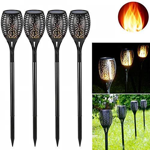 LED Flamme Lampe 96 LEDs Rasen Flamme Flackern Taschenlampe Outdoor Solar LED Feuer Lichter Garten Dekoration