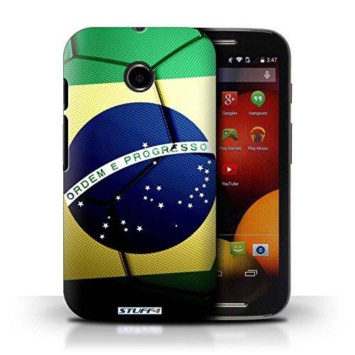 Kobalt® Imprimé Etui / Coque pour Motorola Moto E (2014) / Italie/Italien conception / Série Nations de Football Brésil/Brésilien