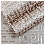 ERFGH GoldMuster weiße Tapete moderne geometrische Metallic VinylTapetenrolleTeal weiß/schwarz weiß/silber weiß, 5