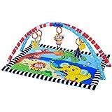 Ametoys Alfombrilla de jugar para Bebé Acolchado Almohadón Suave Manta Lavable Patrón de Animales Encantadores 90 * 66 CM