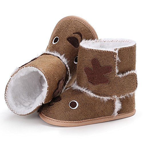 Lanskrlsp neonata cotone tenere caldo peluche morbido stivali da neve scarpe culla bambine e ragazze carino neve morbide piatto pelliccia fodera calda stivaletti inverno scarponi sci