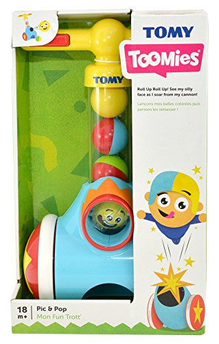 18 Months Walker Toy Ball Launcher and Collector TOMY Toomies Pic and Pop