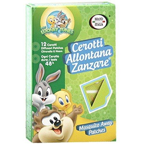 12-cerotti-allontana-zanzare-neonati-e-bambini-antizanzare-baby-looney-tunes