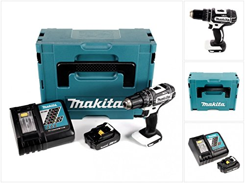 Preisvergleich Produktbild Makita DHP 482 ZW Y1J-P - 18 V Li-Ion Akku Schlagbohrschrauber im Makpac + 1x BL1820 2,0Ah Akku + DC 18 RC Schnellladegerät