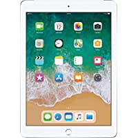 Apple iPad (9.7 inch Multi-Touch) Tablet PC 32GB A10 Chip WiFi + Cellular Bluetooth Camera Retina Display iOS 11 Touch-ID (Silver)