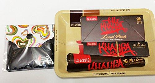 Wiz Khalifa Smoking Mini Deal-Raw Mini-Tablett, Connoisseur, Membran, laut Pack, Pocket Aschenbecher (Aschenbecher Wiz Khalifa)
