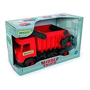 Tigres 32111 Auto Middle Trucktipper en una Caja, Color Rojo, Talla única