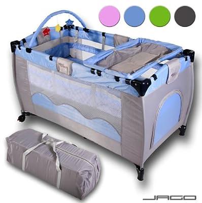 Cuna de viaje Infantastic KRB02 - Incluye colchón, cambiador, bolsa de transporte - Diferentes colores a elegir