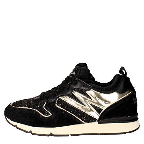 Wrangler WL162650 Sneakers Donna Camoscio/tessuto NERO/ORO NERO/ORO 36