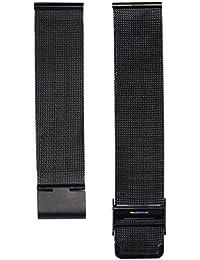 Malloom® Moda milanesa acero inoxidable de malla 18 mm Venda Reloj Pulsera Correa Repuesto (negro)