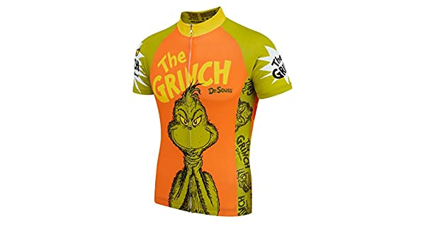 Summit Different - The Grinch Cycling Jersey - Dr Seuss - Mens Short Sleeve  (XLarge)  Amazon.co.uk  Sports   Outdoors ce95ee48c