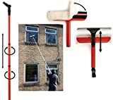 Window Cleaning Washing Set Equipment 3.4 Extension Pole Telescopic Squeegee Kit