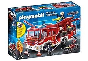 PLAYMOBIL City Action Camión de Bomberos con Luces y Sonido, a Partir de 5 Años (9464)