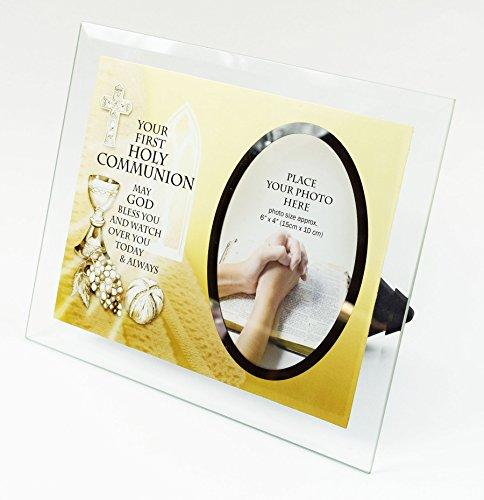 Erste 1. Heilige Kommunion Glas Bilderrahmen Gebet Segen 15,2x 10,2cm Andenken und Geschenk (Für Die Anzüge Erstkommunion)