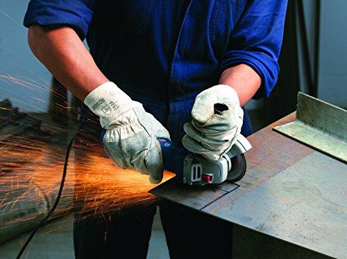 Bosch Professional Winkelschleifer GWS 7-125 (Zusatzhandgriff, Aufnahmeflansch, Spannmutter, Schutzhaube, Zweilochschlüssel, Karton, Scheiben-Ø: 125 mm, 720 Watt) - 6