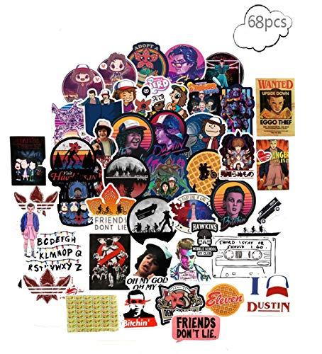 Aufkleber 68 Stück Strangers, Wasserdicht Things Vinyl Stickers Graffiti Style Decals für Auto/Motorräder/Fahrrad/Snowboard/Gepäck/Laptop -