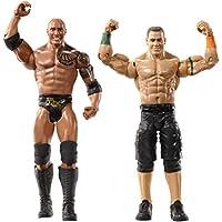WWE WrestleMania 2 Pack Figuras La Roca y Juan Cena