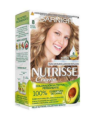 Garnier Nutrisse Creme coloración permanente con mascarilla nutritiva de cuatro aceites - Rubio Claro...