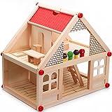 DIY Creative Multi-Level Wooden Villa With Cute Doll & Attractive Accessories For Kids (Multicolor)