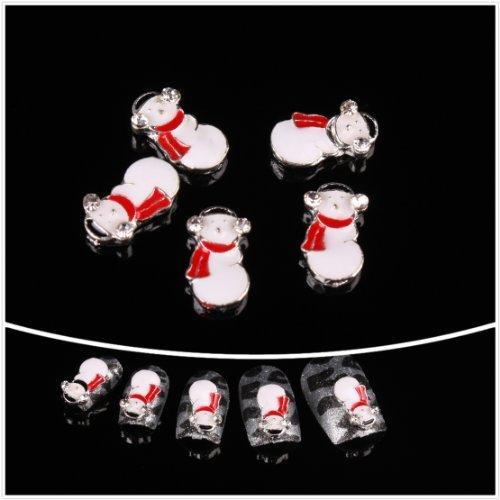 Nails gaga Alloy Nail Art /Glitters Rhinestones Tips / Diy Nail Decoration 10pcs / N1086 by Nails gaga