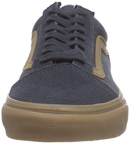 Vans Old Skool, Unisex-Erwachsene Sneakers Blau (gum Sidestripe/ebony)