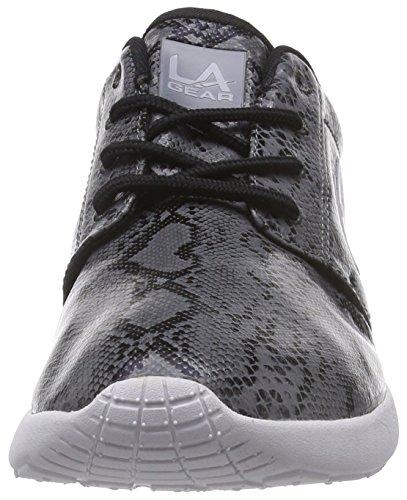 L.A. Gear Sunrise, Low-Top Sneaker donna Grigio (Grau (Grey-Snake-Black 01))
