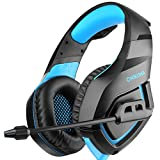 Gaming Headset for PS4 Xbox One Controller Nintendo Switch PC Laptop Mac Game with Mic Over Ear Headphone High Performance Stereo Sound with Bass