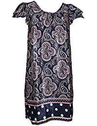Scoop Neck Paisley Shift Dress. Sizes 10-18